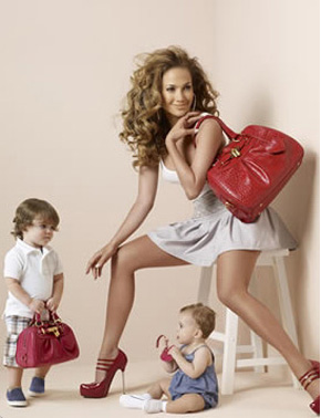 Jennifer Lopez Children on Jennifer Lopez Samantha Thavasa Ss09 Ad