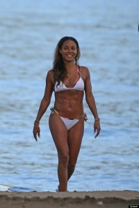 EXCLUSIVE: A bikini clad Jada Pinkett Smith flaunts her rock hard body on the beach in Hawaii